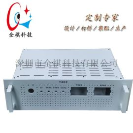 定制3u全鋁工控機箱,19英寸電源設備機箱