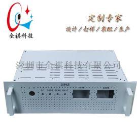 定制3u全铝工控机箱,19英寸电源设备机箱