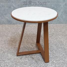 不锈钢大理石茶几 三角形圆形餐桌茶几边几角几