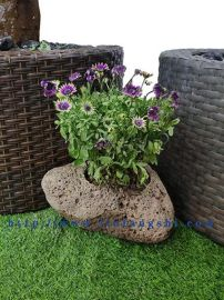 六方石、玄武岩、蒙古黑、花盆