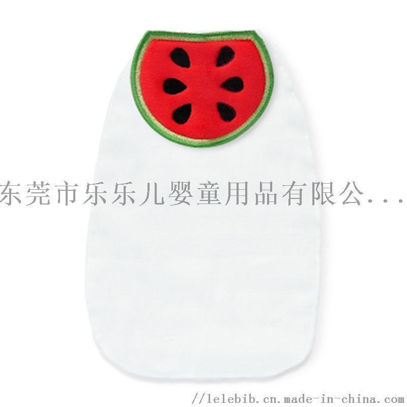宝宝水果吸汗巾儿童纯棉垫背巾4层纱布隔汗巾XL码
