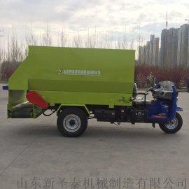 全自动养殖场撒料车 自走式电动饲养撒料车