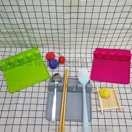 硅胶餐具垫 硅胶汤勺沥水架 创意餐具支架
