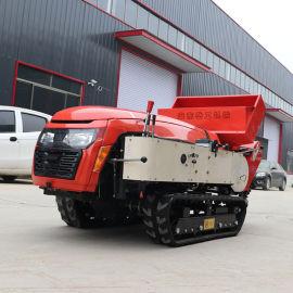 履带式田园管理机 柴油动力开沟施肥旋耕机
