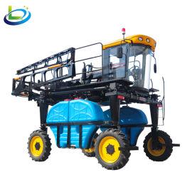 四驱四轮高杆玉米大豆棉花小麦自走式柴油喷杆打药车