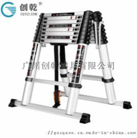 【天津】客户家用创乾4.5米伸缩梯子,人字梯