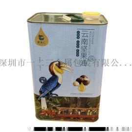5L食品油铁皮罐马口铁包装罐 方形马口铁材质