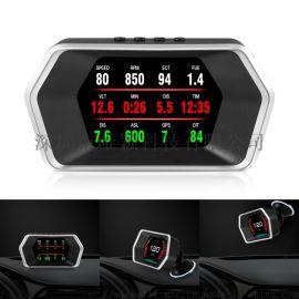 OBD2行车电脑P10车载显示车速转速水温