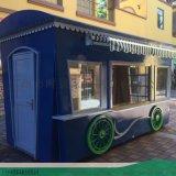 服裝百貨超市售賣車-餐飲展示售賣車-時景傢俱