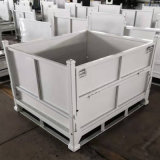 上海苏州折叠式金属周转箱钢制料箱