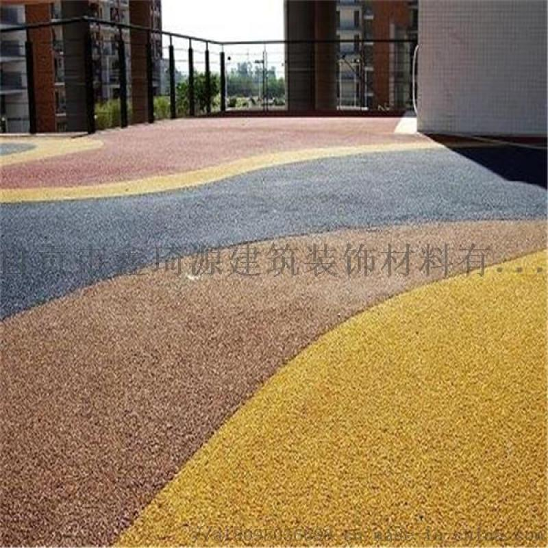 成都彩色透水混凝土;透水地坪;艺术压花地坪;