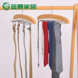 皮带丝巾收纳衣架 多功能领带挂皮包领结帽子家用整理实木架