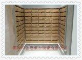 小区嵌入式黄钛金不锈钢信报箱,不锈钢快递储存箱