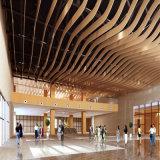 幕牆天花吊頂弧形鋁方通廠家直銷木紋異形鋁方通定製