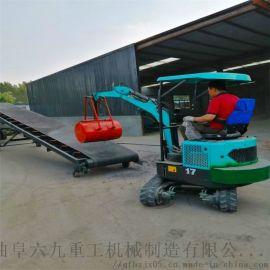 轮式挖掘机 小型挖掘机挖斗尺寸 六九重工 履带挖