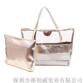 裕创威 购物袋 单肩包 PVC包包 手提袋