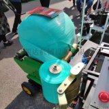 小圆捆玉米秸秆青储打包机,全自动青储打捆包膜机