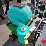 小圓捆玉米秸稈青儲打包機,全自動青儲打捆包膜機