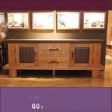 牛仔部落 客厅视听柜 红胡桃木西部牛仔家具