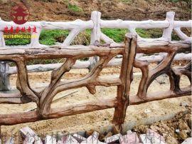 四川实木栏杆厂家,公园栏杆河道护栏定制厂家