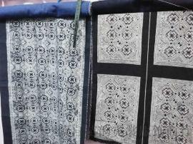 苗族特色工藝藍印花布