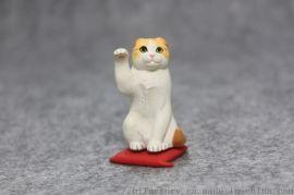 厂家定制新款招财猫咪摆件公仔办公室汽车礼品摆件