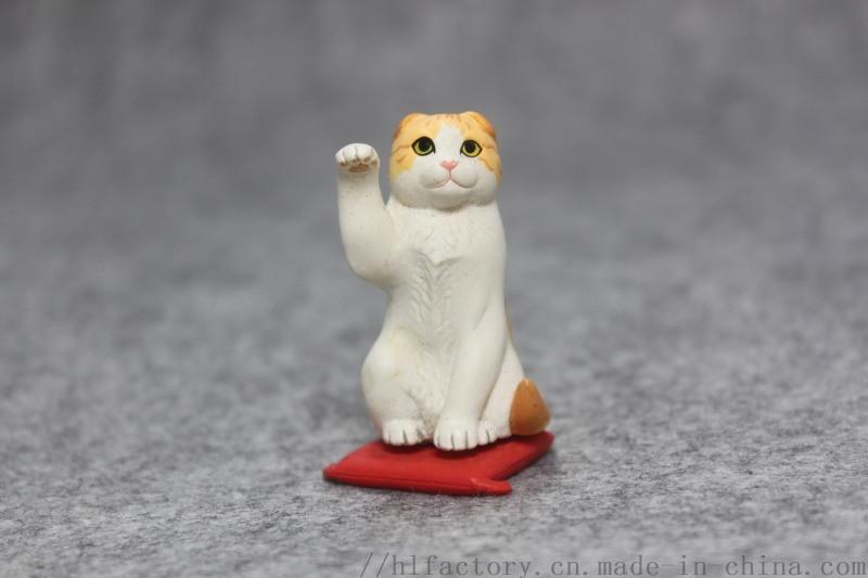 廠家定製新款招財貓咪擺件公仔辦公室汽車禮品擺件
