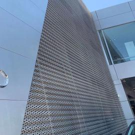 门头装饰冲孔网-奥迪外墙装饰网精致亮眼