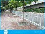 深圳市政园林道路护栏 马路中间港式护栏带铸铁底座