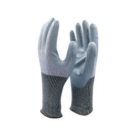 5级防切割灰色光面丁腈手套