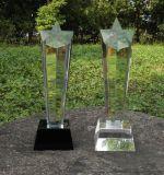 西安水晶獎盃定製 高檔水晶獎牌 同學聚會水晶擺件