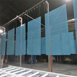 高层建筑爬架外用镀锌防护网、爬架防护钢板网