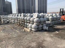 安康石材花岗岩挡车柱圆球 石材圆柱子定制加工厂家