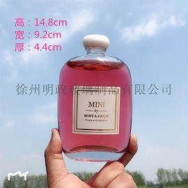 新品创意饮料瓶自酿果酒瓶奶茶瓶密封瓶小  瓶