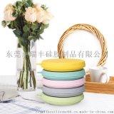 旅行矽膠摺疊碗 泡麪碗 圓形摺疊碗 戶外野餐飯盒