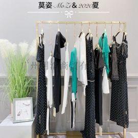 杭州品牌折扣女装莫姿甜美连衣裙货源渠道