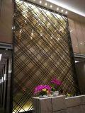 玫瑰金不锈钢屏风隔断,酒店会所铝屏风