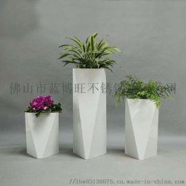 现代艺术不锈钢异形花盆制品