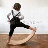 ins木質平衡板蹺蹺板感統訓練曲板