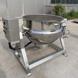 餐厅炒菜熬粥夹层锅 自动搅拌夹层锅