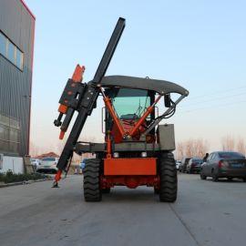 厂家直销 柴油四轮护栏打桩机 液压锤压桩机