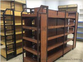 定做四川钢木货架 成都钢木货架 钢木展示架厂家