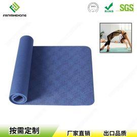 厂家定制天然橡胶无毒环保防滑瑜伽垫 印花健身运动垫