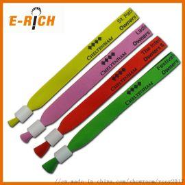 编织手环热转印手腕带 一次性涤纶编织手腕带 环保材质定制logo