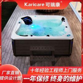 别墅户外冲浪SPA**浴缸泡池多功能亚克力恒温加热