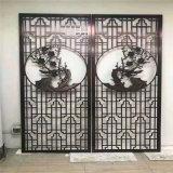 福滿堂仿古鋁花格窗定製 宴會廳仿古木紋鋁花格窗