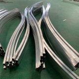 木纹造型包柱铝格栅 型材拉弯铝方通铝格栅包柱