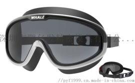 新款电镀防雾防水大框一体成人游泳眼镜专业装备