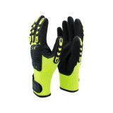 5級防切割熒光黃抗衝擊手套TPR機械師手套