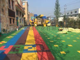 幼儿园用地板环保塑胶地板游乐场地垫防滑体育运动场